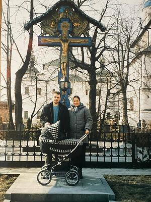 Алексей и Екатерина Заровы в Новоспасском монастыре