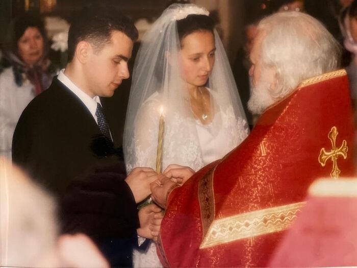 Венчание Алексея и Екатерины Заровых. Венчает протоиерей Владимир Воробьев