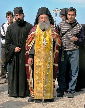 Ο Γέροντας Γρηγόριος (Ζουμής), ηγούμενος τής Μονής Δοχειαρίου