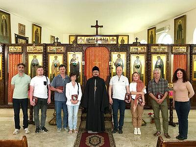 Российские археологи и реставраторы посетили Представительство Русской Православной Церкви в Дамаске