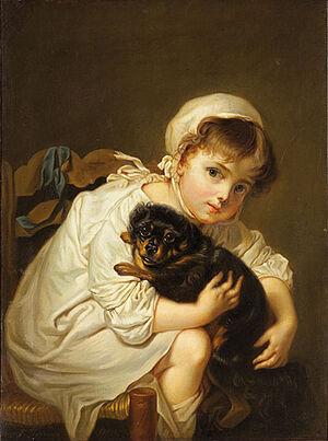 В. Тропинин. Девочка с собакой