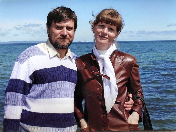 Ο Δημήτρης και η Ναταλία, όταν ήταν νέοι στο Ταμάν