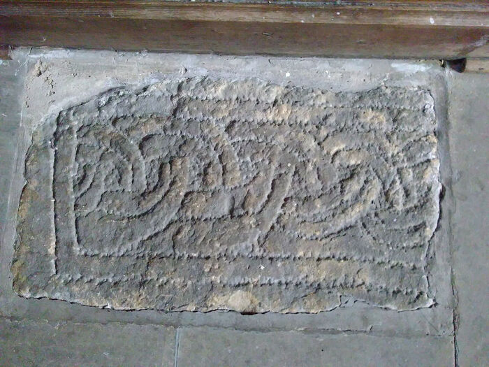 Early English knot pattern at the Church of Sts. Mary and Alkelda in Middleham, N. Yorkshire (provided by co-rector of the church in Middleham)
