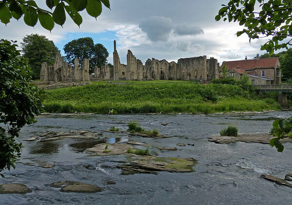 The Finchale Priory ruins and the River Wear, Co. Durham (photo by Mat Fascione, Geograph.org.uk)