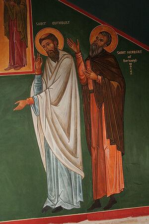 Sts. Cuthbert and Herbert (by Aidan Hart)