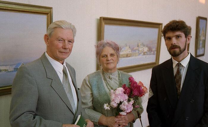 Николай Николаевич и Ирина Николаевна на выставке Николая Николаевича Третьякова (сына) в ЦДХ октябрь 1996 года