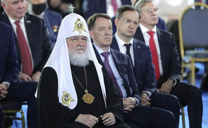 Святейший Патриарх Кирилл присутствовал на выступлении Президента России Владимира Путина, обратившегося с Посланием к Федеральному Соб