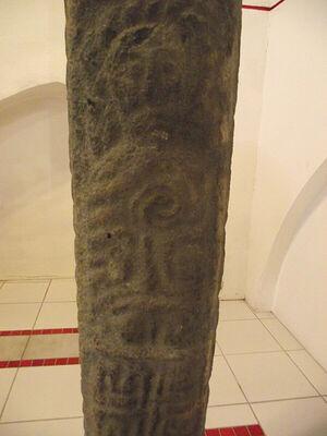 Резное рельефное изображение св. Патерна (Падарна) в церкви д. Лланбадарн-Фор, Уэльс (любезно предоставил - Canon Andrew Loat)