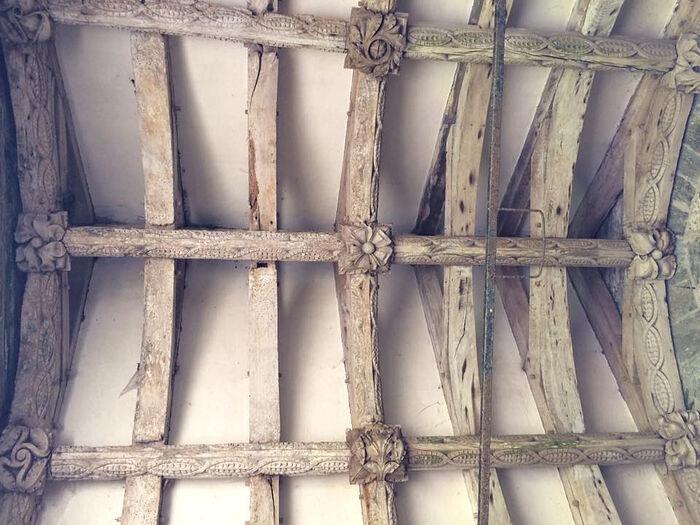 Резьба на потолке церкви Св. Патерна в Норт-Петервин, Корнуолл (любезно предоставлено - North Petherwin Church)