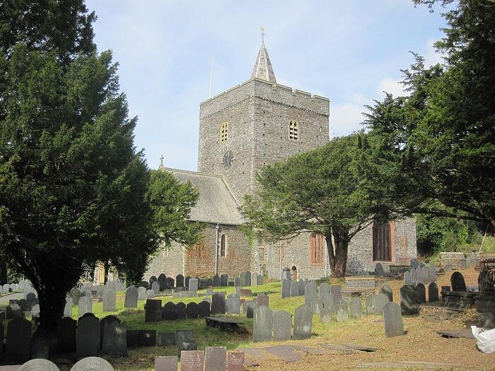 Церковь Св. Падарна в д. Лланбадарн-Фор, Уэльс (любезно предоставил - Canon Andrew Loat)