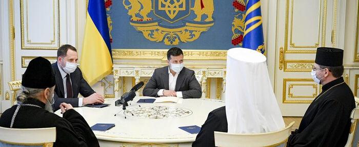 Блаженнейший митрополит Киевский Онуфрий принял участие во встрече с Президентом Украины накануне Пасхи
