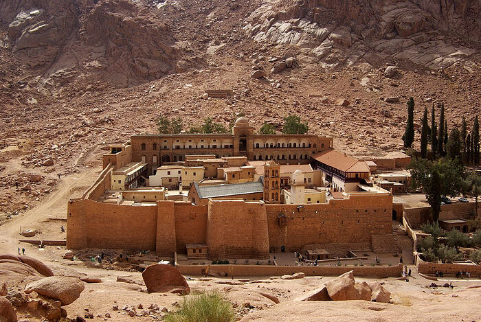 St. Catherine's Monastery at the foot of Mt. Sinai