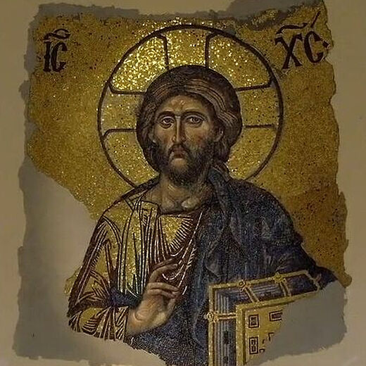 Christ the Pantokrator from Constantinople's Hagia Sophia in a Tbilisi Church (+ Video)