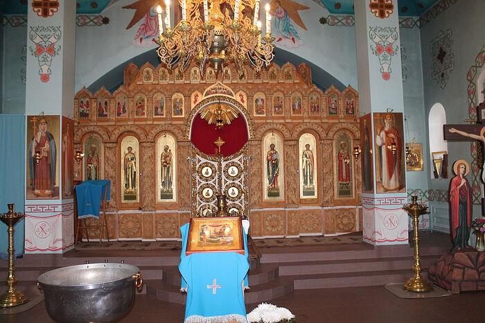 Храм Св. Иоанна Златоуста с. Никульевка Пензенская обл. Иконостас