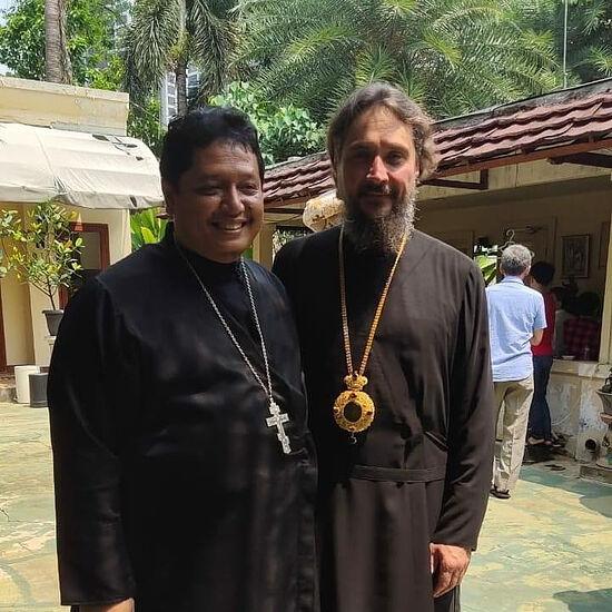 Fr. Theodore with Metropolitan Sergius (Chashin) of Singapore and Southeast Asia