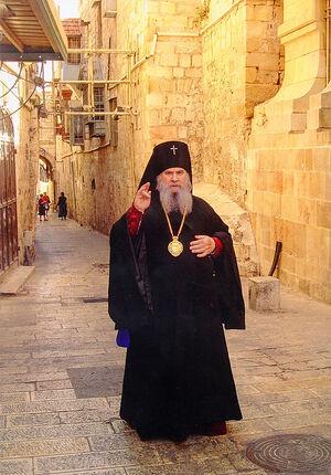 Архиепископ Благовещенский и Тындинский Гавриил (Стеблюченко) на улочках Иерусалима