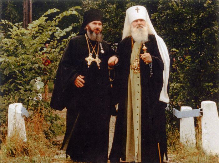 Митрополит Иоанн (Разумов) и архимандрит Гавриил (Стеблюченко)