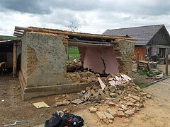 Romanian diocese building houses for flood victims