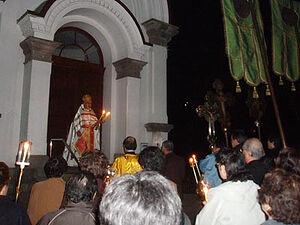 Ο Ιερός Ναός της Ανάστασης του Χριστού στην πόλη Χακοντάτε. Πασχαλινή λιτανεία με εκφωνήσεις «Χριστός Ανέστη» στην ιαπωνική και ρωσική γλώσσα