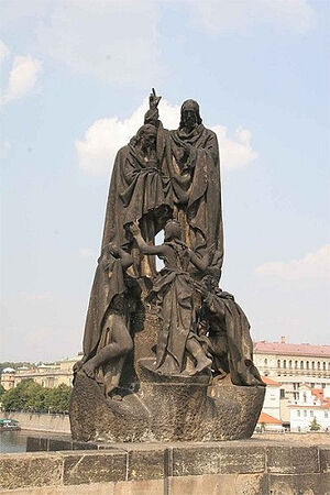 Памятник Кириллу и Мефодию в Праге