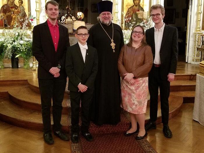 Протоиерей Андрей Соммер и его семья