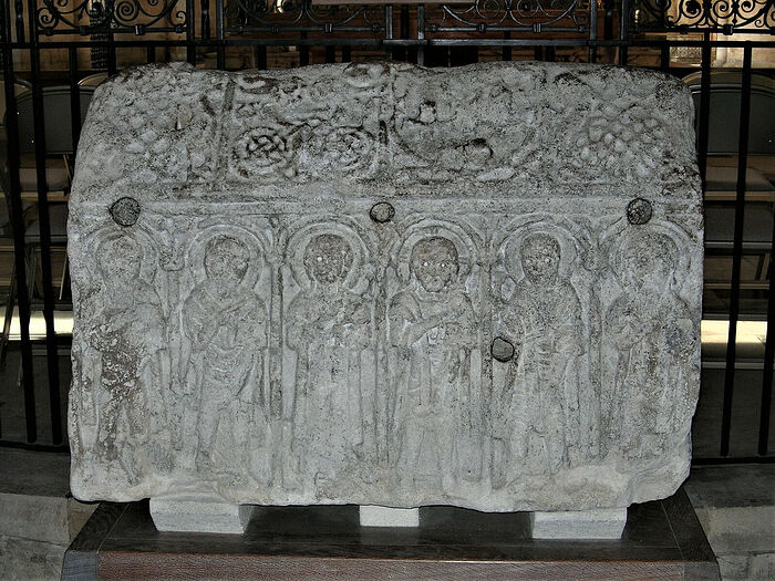 The Hedda Stone at Peterborough Cathedral, Cambridgeshire (provided by Dr. Avril Lumley-Prior)