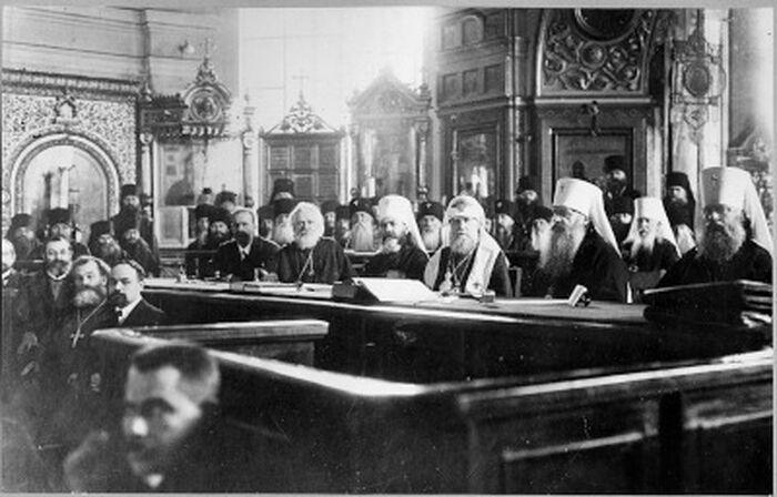 20 сентября 1918 г. завершил работу Поместный Собор Русской Православной Церкви. Фото из коллекции Церковно-исторического архива ПСТГУ.