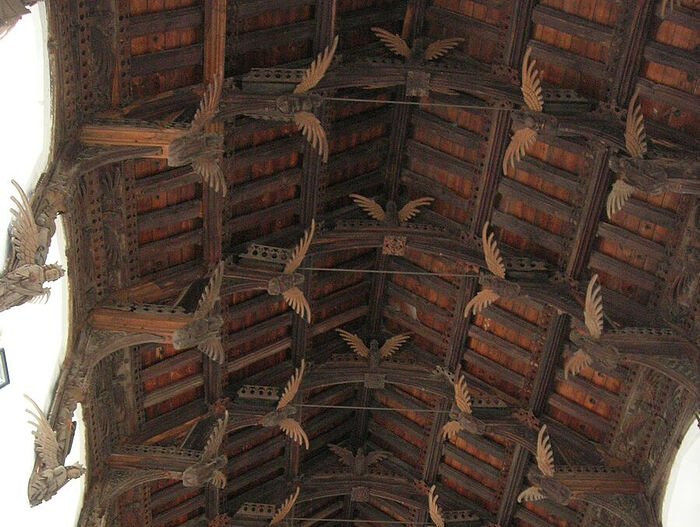 Angels on the roof of St. Wendreda's Church in March, Cambs (kindly provided by Dr. Avril Lumley-Prior)