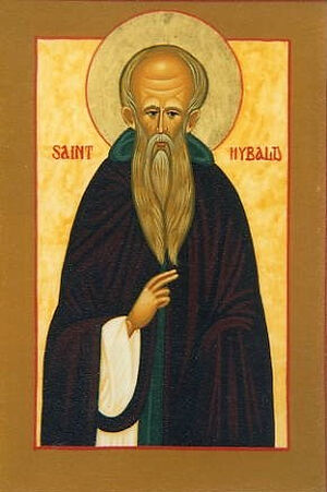 An icon of St. Hibald of Lindsey (the image kindly provided by Revd. David Eames)