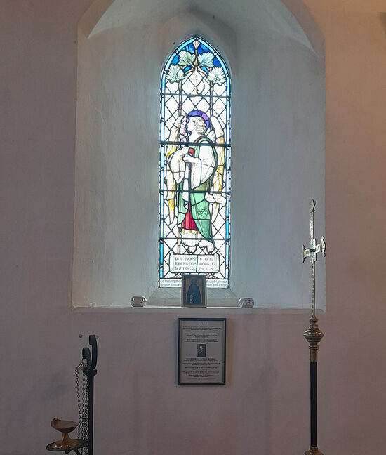 St. Hibald's resting-place at the Hibaldstow church, Lincs (provided by Sdn. Chad Andrew Lyon, Antiochian Community of St. Hybald, N. Lincolnshire)