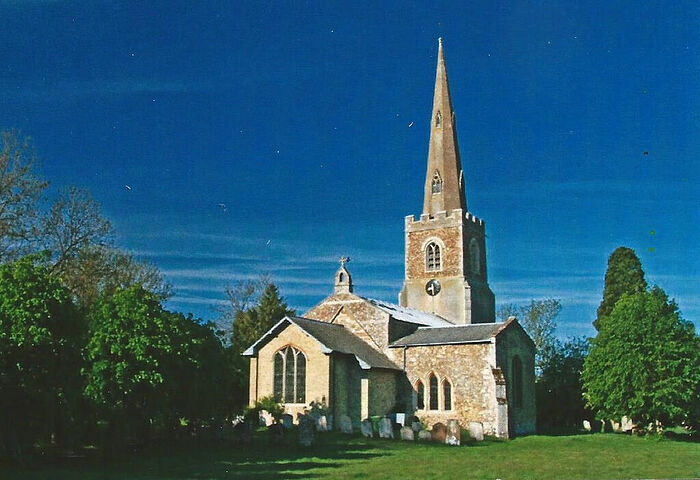 St. Pandionia and St. John the Baptist's Church, Eltisley, Cambs (provided by Nichola Donald)