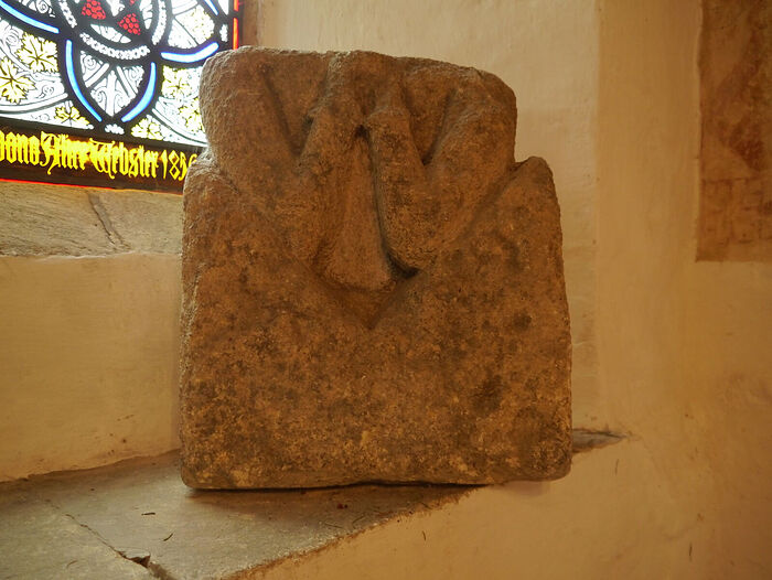 The Peakirk heart-stone relic, Cambs (kindly provided by Dr. Avril Lumley-Prior)