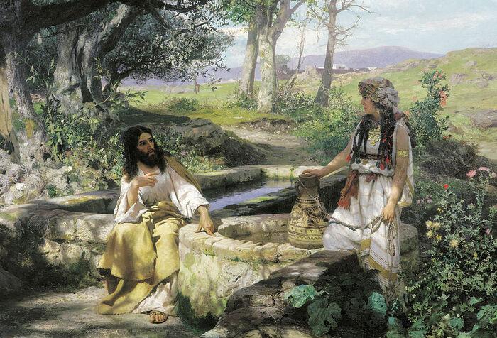 Христос и самарянка. Художник: Генрих Семирадский