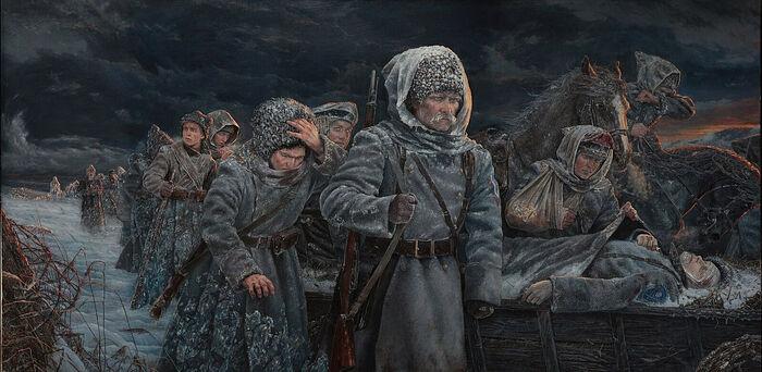 Ледяной поход сквозь времена. Художник: Владимир Киреев