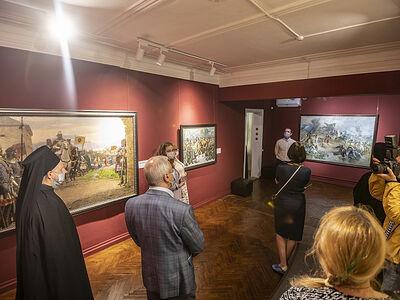 При Псково-Печерском монастыре состоялось открытие выставки «Александр Невский в изобразительном искусстве. К 800-летию со дня рождения благоверного князя»