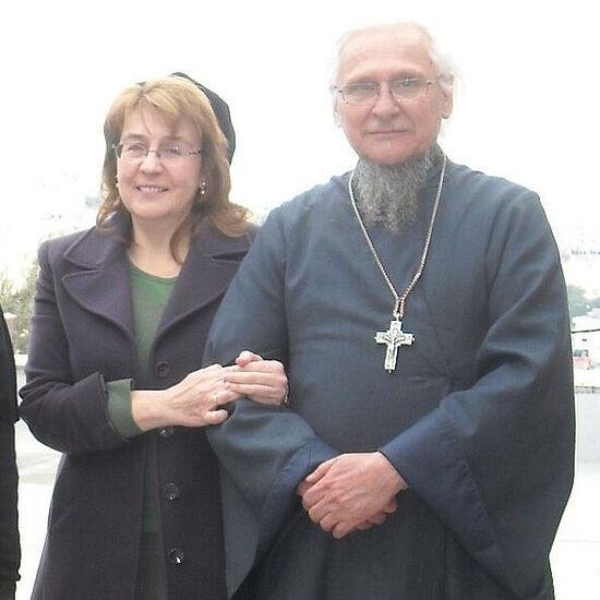 Протоиерей Сергий и его супруга Мария Котар