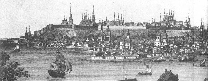 Панорама Казани начала 19 века