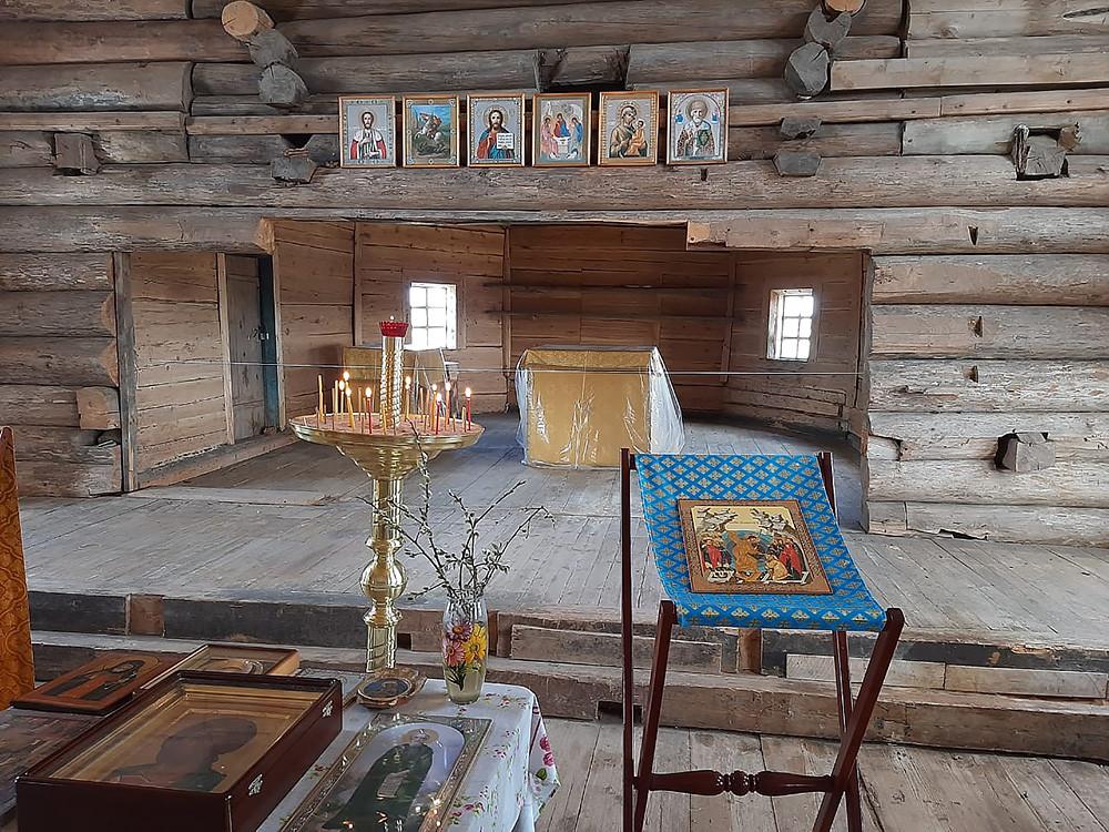 Ο Ιερός Ναός Εισοδίων της Υπεραγίας Θεοτόκου, στο χωριό Βορζογκόρι