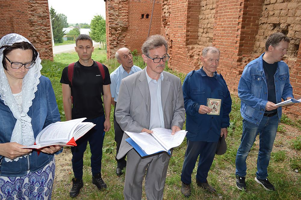 Ο Ιερός Ναός Αναλήψεως του Κυρίου, στο χωριό Νόβοε Μάζινο της περιοχής Ζακάμσκοε