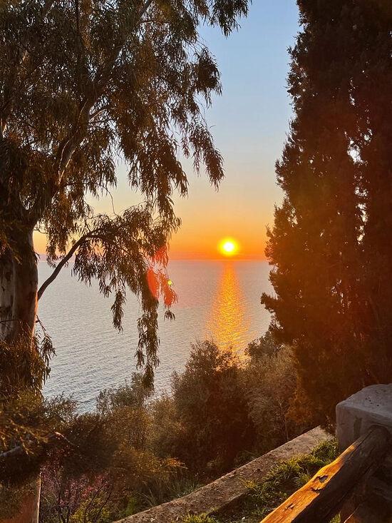 Закат. Вид из келлии свт. Модеста Иерусалимского