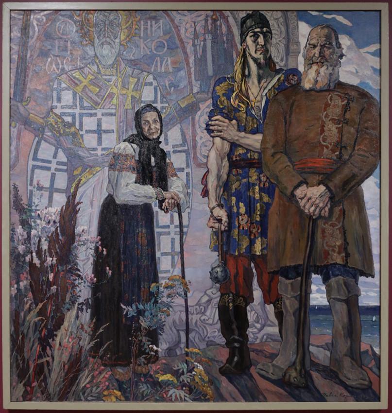 Корин Павел. Старый сказ. Правая часть триптиха «Александр Невский». 1942–1943