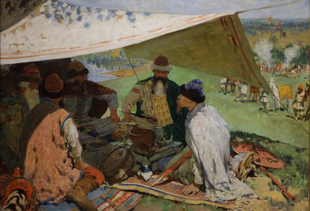 Иванов Сергей Васильевич. Съезд князей в Уветичах. 1910
