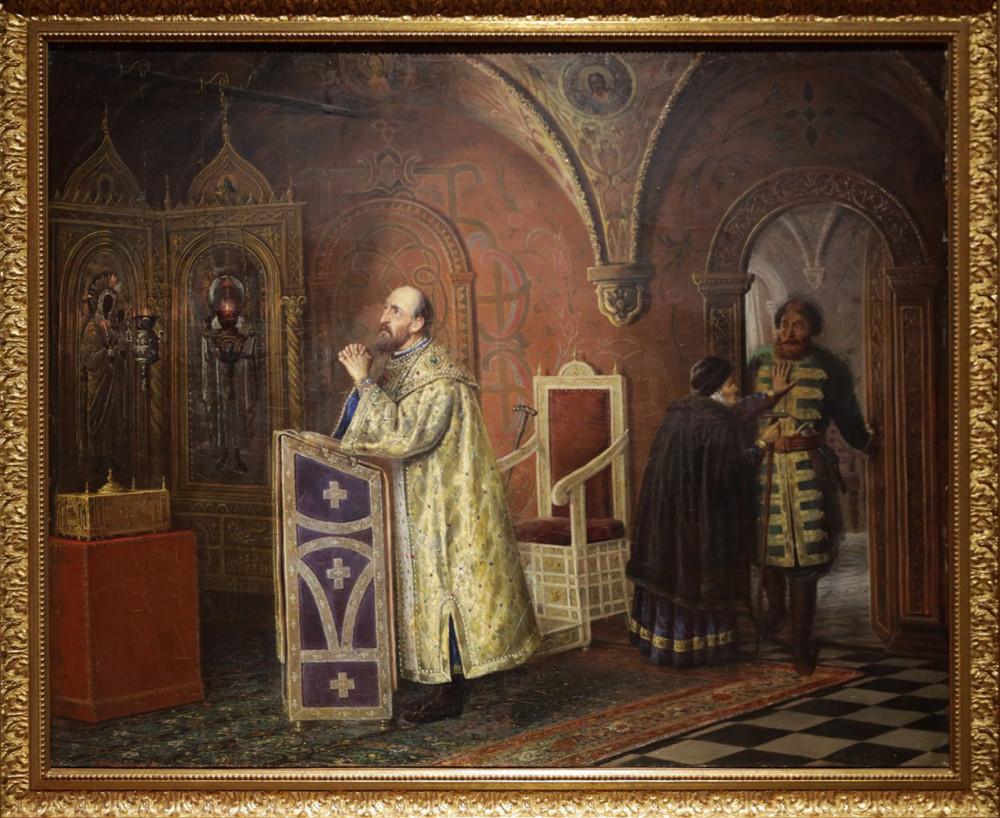 Пукирев В.В. Иван Грозный на молитве. 1884