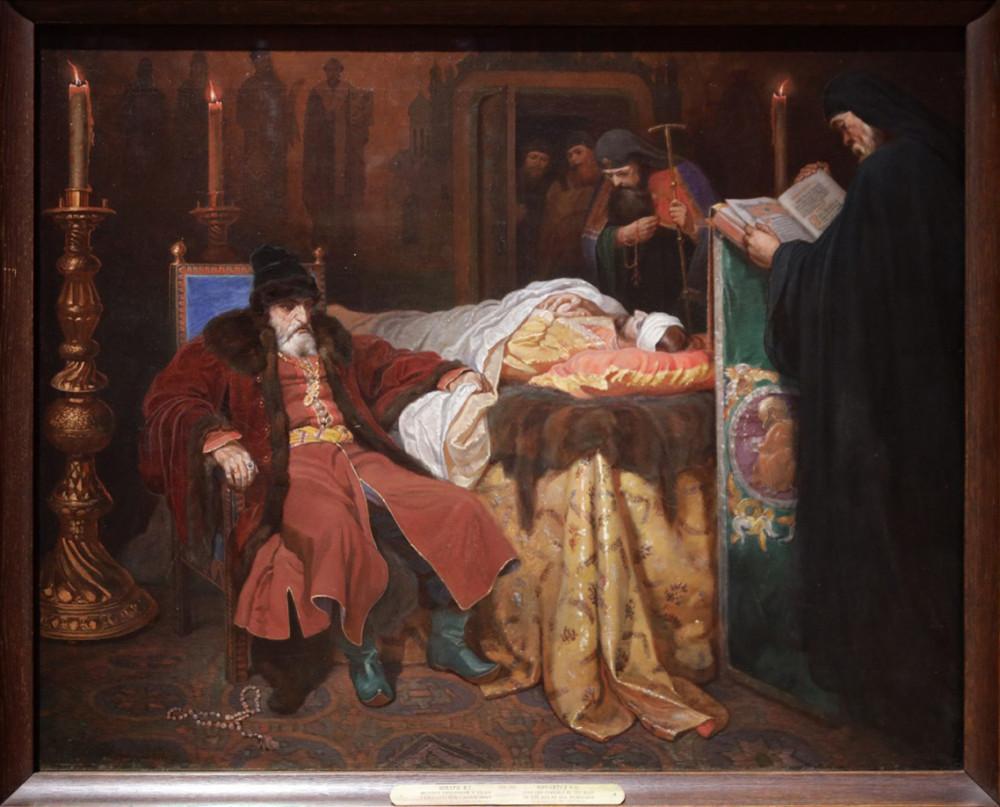 Шварц В.Г. Иоанн Грозный у тела убитого им сына. 1864