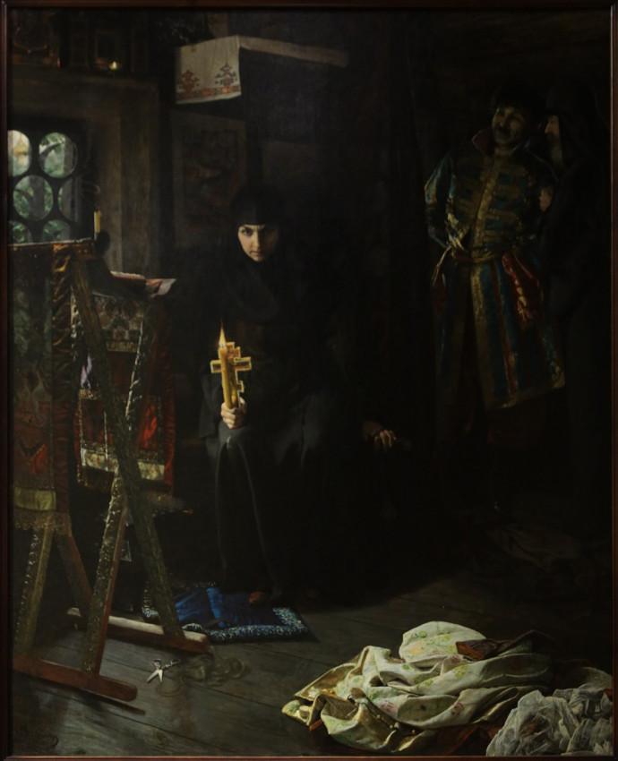 Матвеев Н.С. Насильственный постриг (Против воли постриженная). 1887