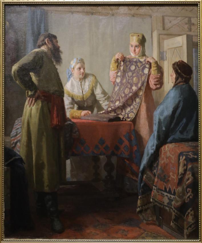 Неврев Н.В. Бытовая сцена XVII века. 1880-е -1890-е
