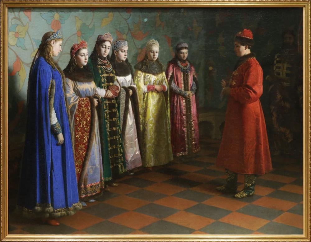 Седов Г.С. Выбор невесты царем Алексеем Михайловичем. 1882