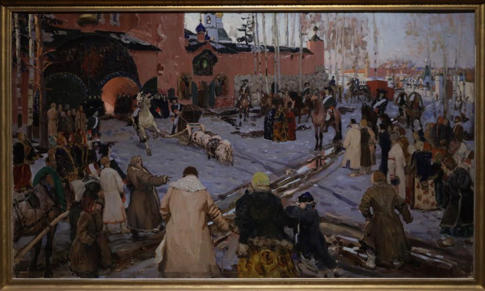 Горелов Г.Н. Сцена из времен Петра I. (Похороны на свиньях)