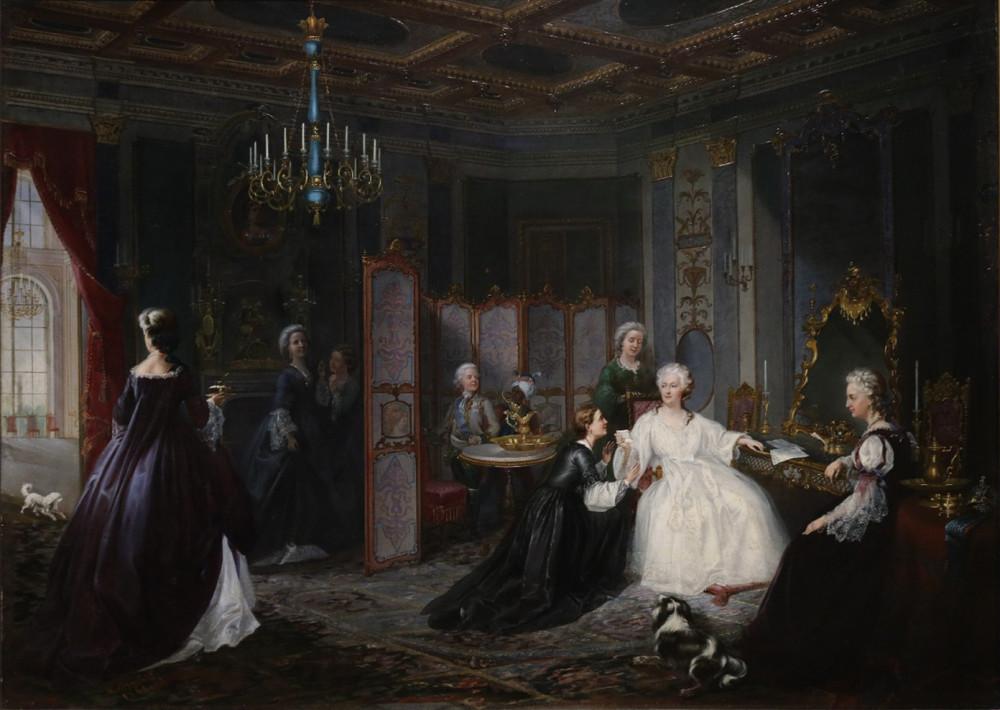 Миодушевский И.О. Вручение письма Екатерине II. 1861