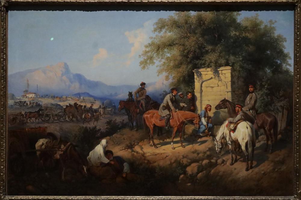 Виллевальде Б.П. Переход русских войск через Аджарское ущелье на Кавказе. 1872